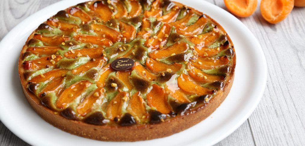 recette tarte abricot pistache chov 39 d lices. Black Bedroom Furniture Sets. Home Design Ideas