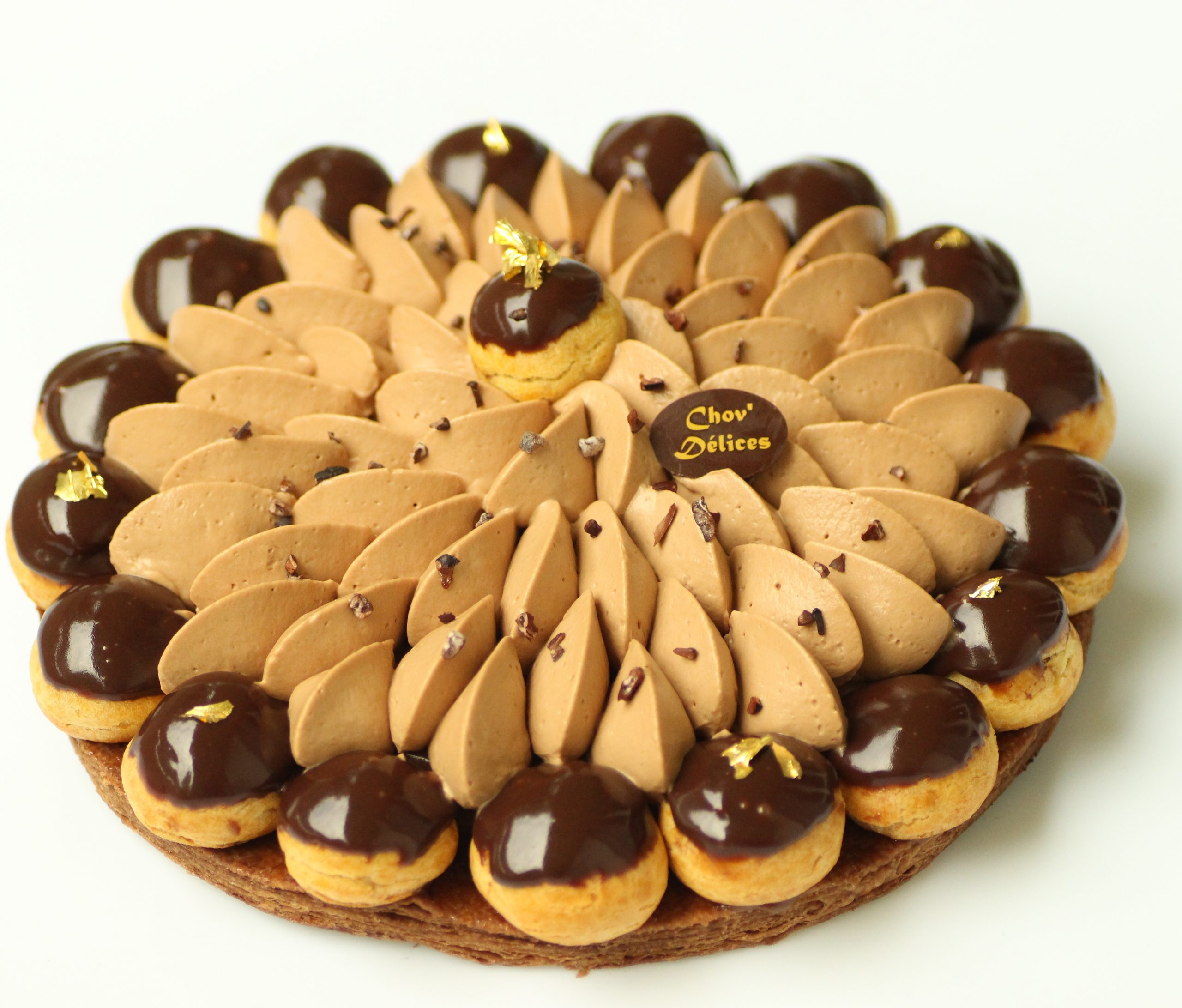 Saint Honoré Chocolat Tonka Chov Délices Pâtisserie Val D Oise